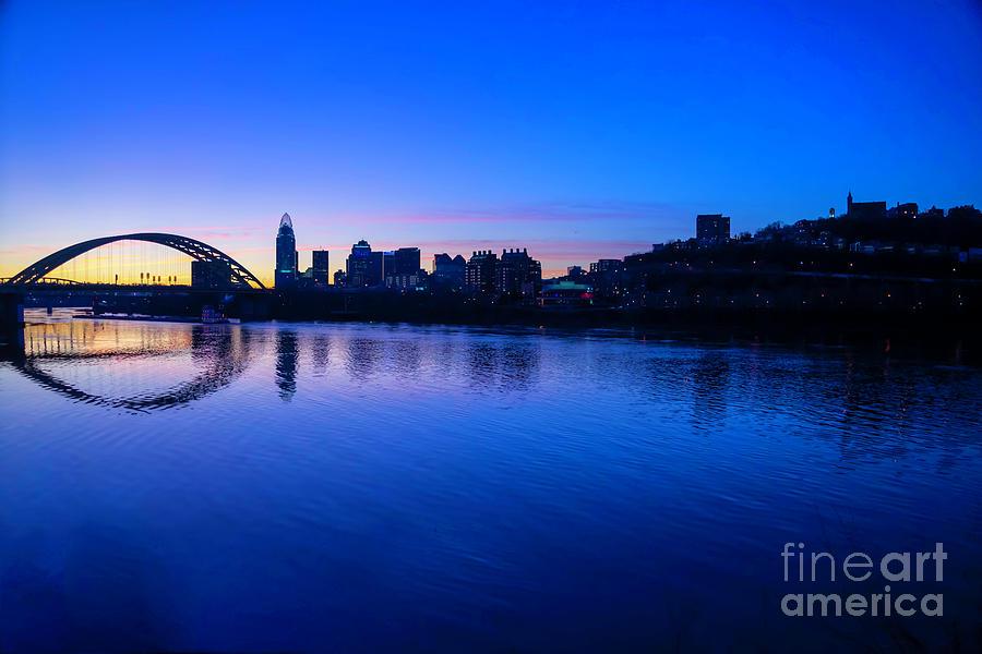 Cincinnati  and Mt. Adams by Cathy Donohoue