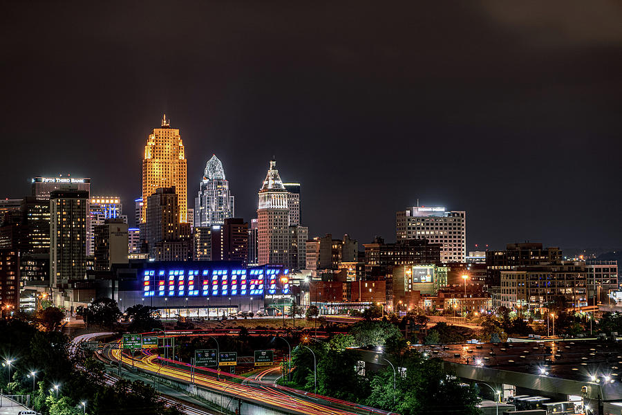 Cincinnati Ohio Skyline in 2017 by Dave Morgan