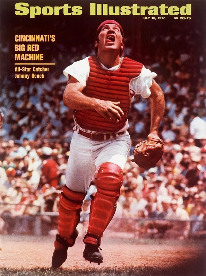 Cincinnati Reds Johnny Bench... Sports Illustrated Cover Photograph by Sports Illustrated