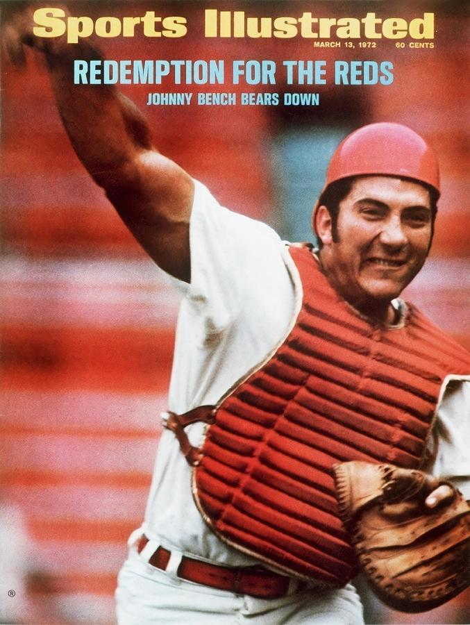 Cincinnati Reds Johnny Bench Sports Illustrated Cover Photograph by Sports Illustrated