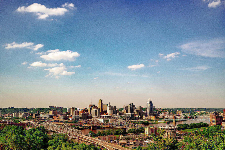 Cincinnati Skyline View from Devou Park by Dave Morgan
