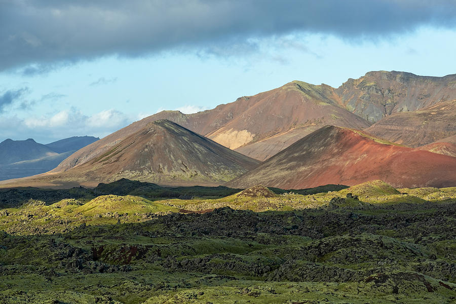 Cinder Cones Iceland by Catherine Reading