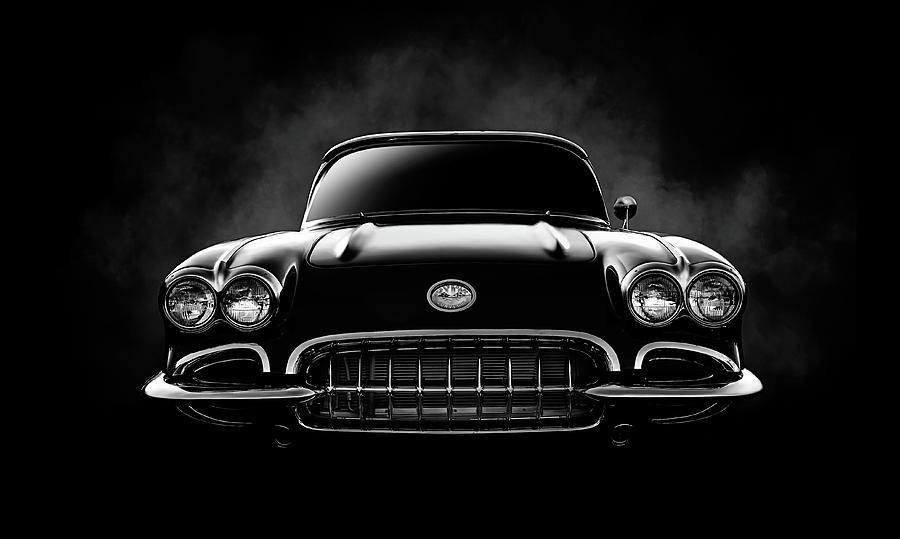 Corvette Digital Art - Circa 59 by Douglas Pittman