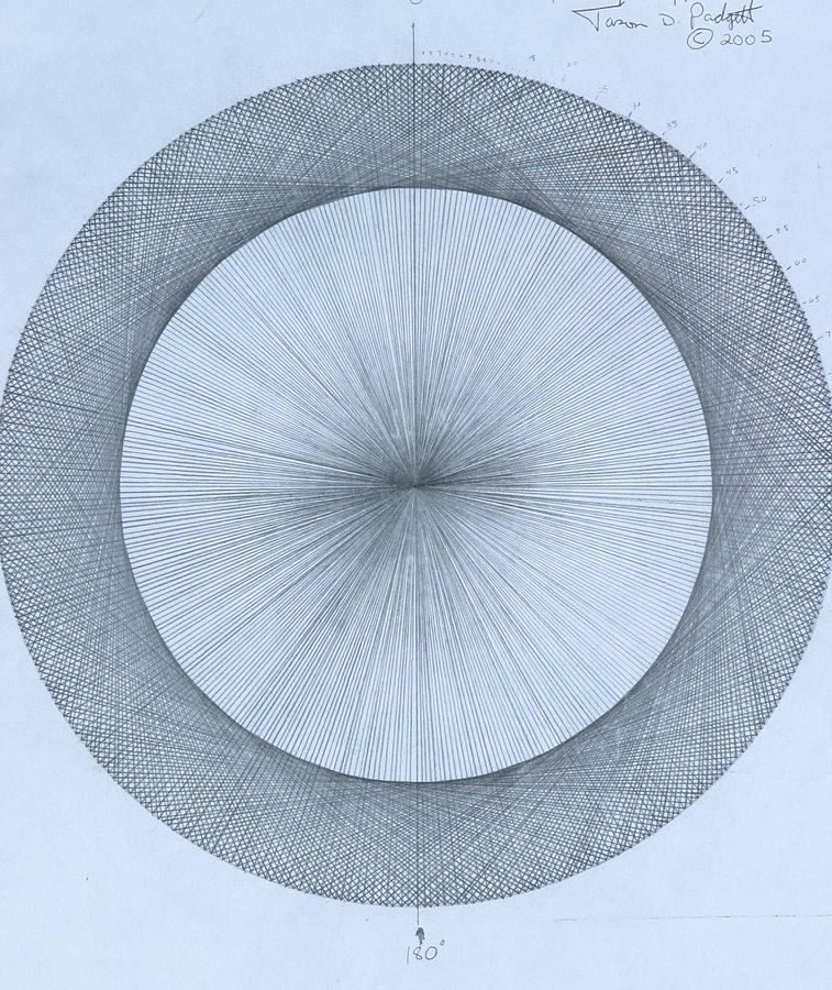 Circle Drawing - Circles do not exist one degree by Jason Padgett