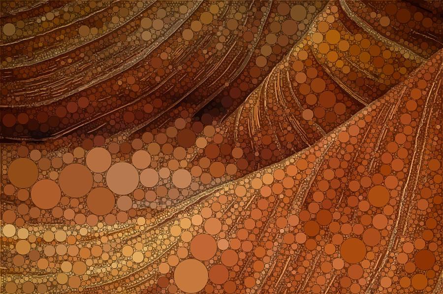 Red Digital Art - Circular Sandstone by Dahl Winters