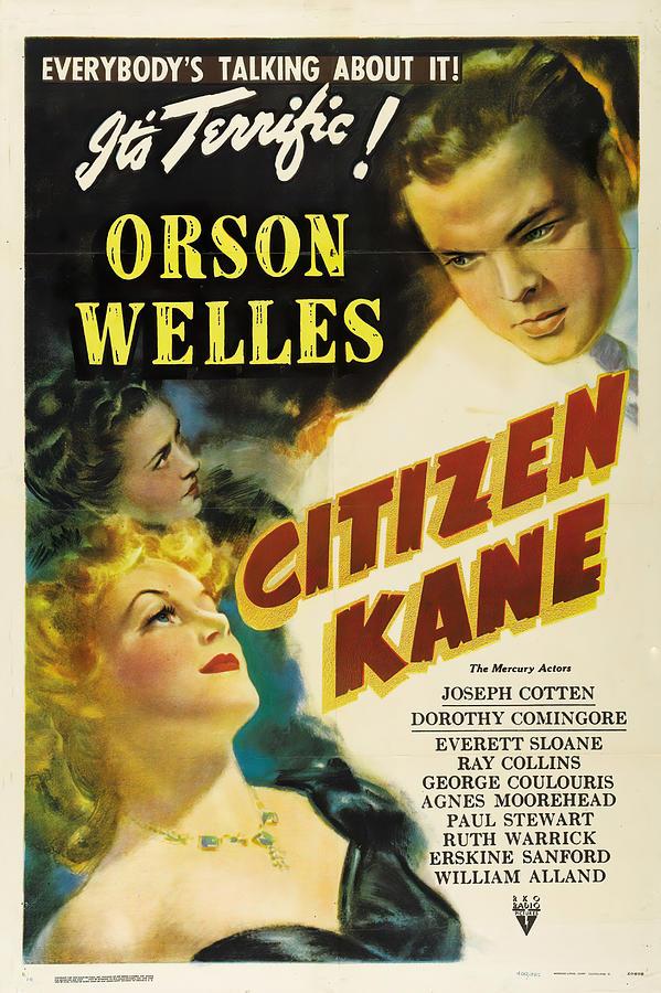 citizen Kane 3, With Orson Welles, 1941 Mixed Media
