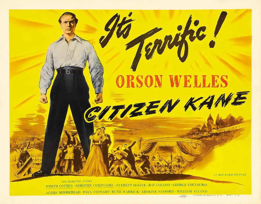 citizen Kane, With Orson Welles, 1941 Mixed Media