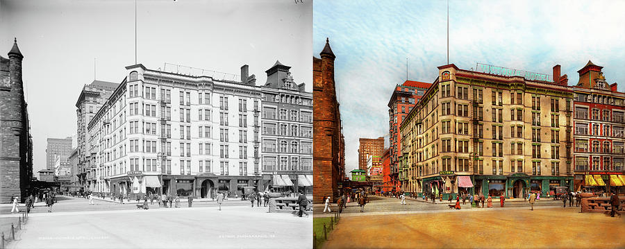 City - Chicago IL - The Victoria Hotel 1900 - Side by Side by Mike Savad