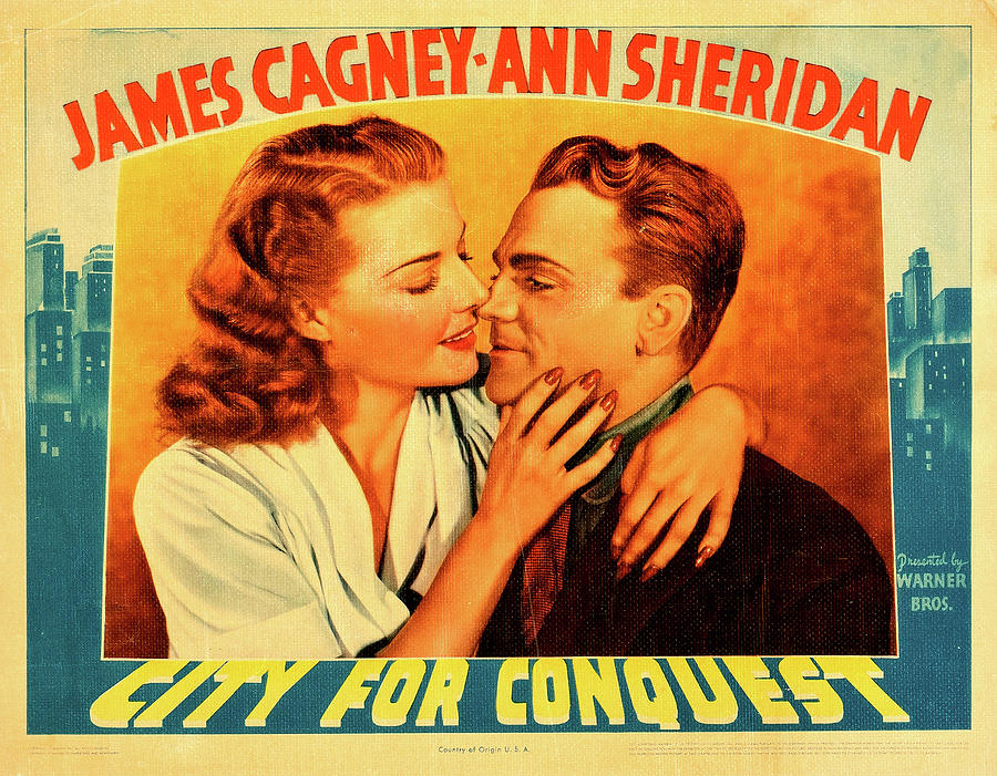 city For Conquest, With James Cagney And Ann Sheridan, 1940 Mixed Media