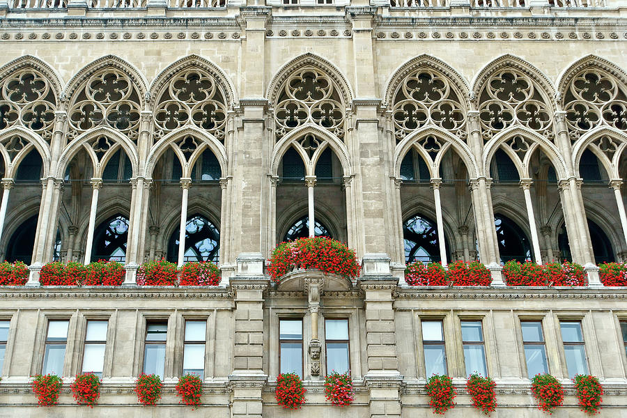 City Hall Vienna Austria Rathaus European World Art Print POSTER