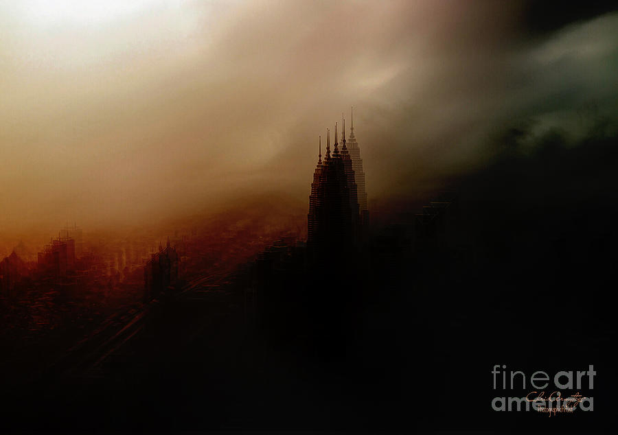 City in Fog Abstract by Chris Armytage