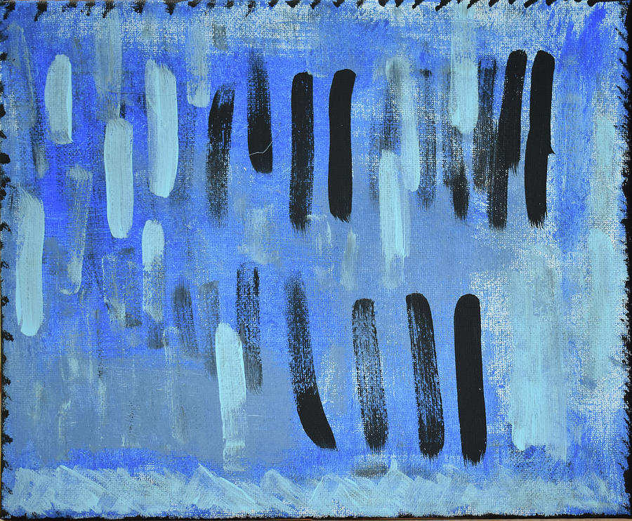 Blue Painting - City in the Clouds by Pam Roth OMara