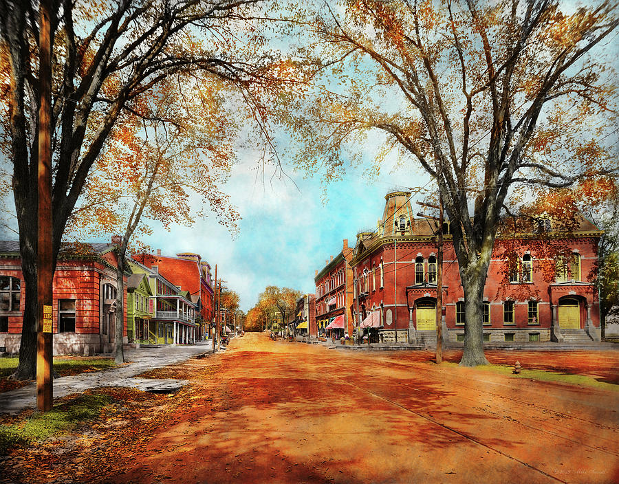 City - Lee MA - The Village Street 1911 by Mike Savad