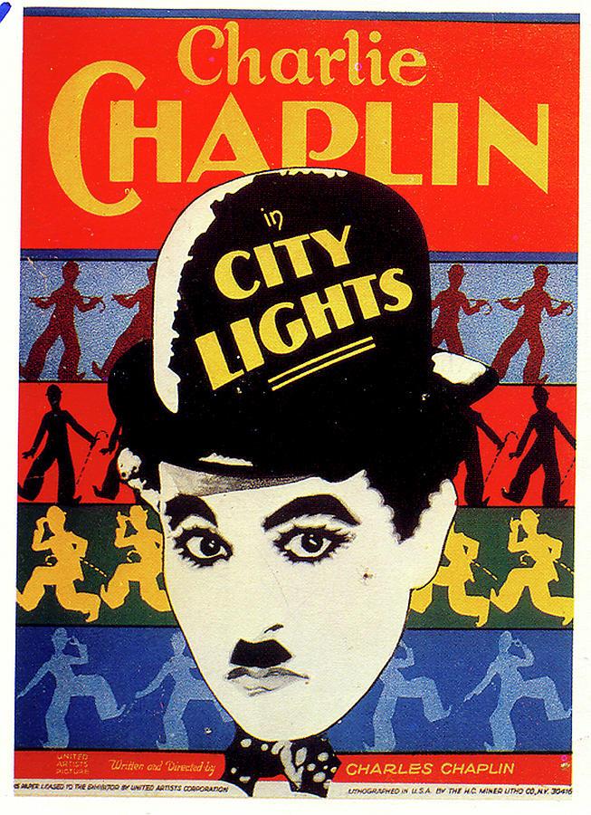 city Lights Movie Poster 1931 Mixed Media