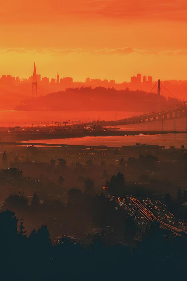 City Mural, San Francisco Bay Photograph by Vincent James