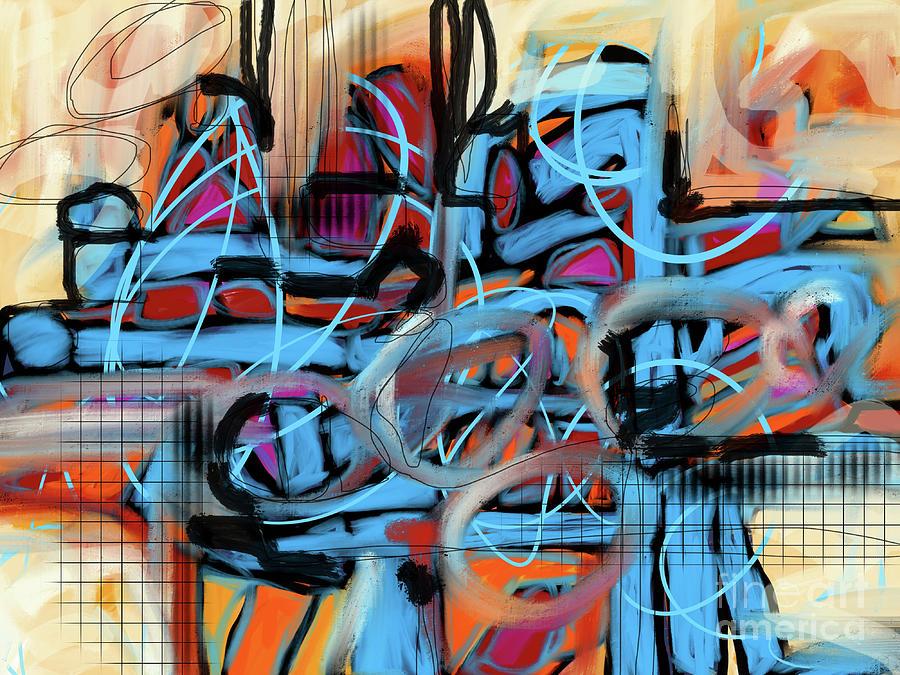 City Night Lights Digital Art by Robin Valenzuela
