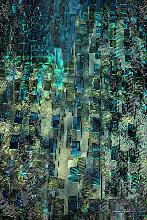 City Digital Art - City Noise by Mike Braun
