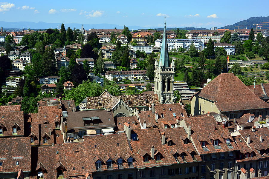 Cobblestone Streets Photograph - City of Bern Skyline by Two Small Potatoes
