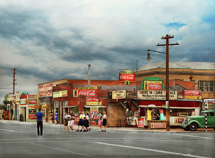 City - Phoenix AZ - Pop Culture 1940 by Mike Savad