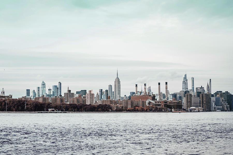 Cityscape Of Modern Urban New Yotk On River Coast - Surreal Art By Ahmet Asar Digital Art