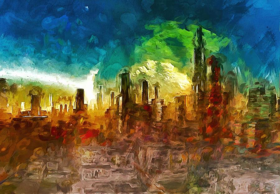 Cityscape Of The Future Digital Art