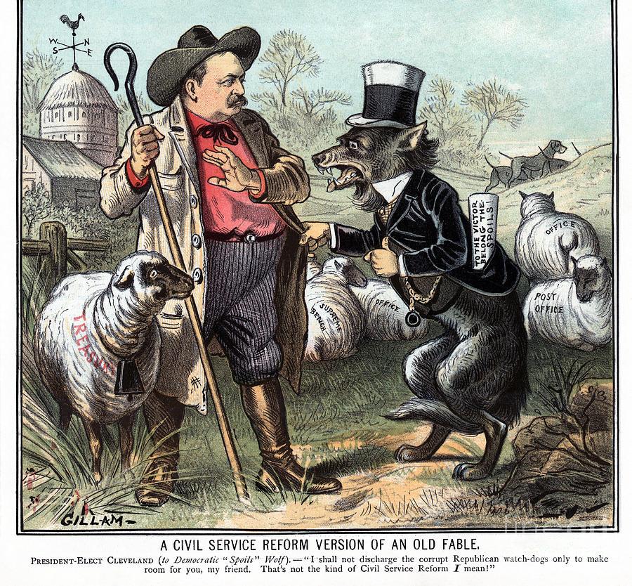 Civil Service Reform Cartoon, 1885 by Bernhard Gillam