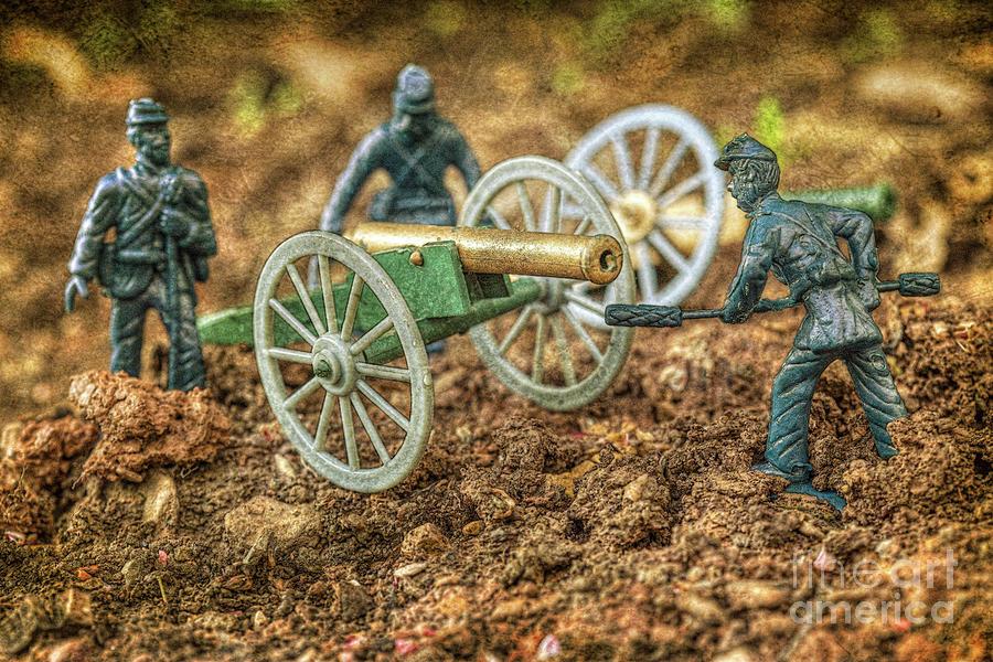 Civil War Toy Soldiers Battle In The Dirt Digital Art