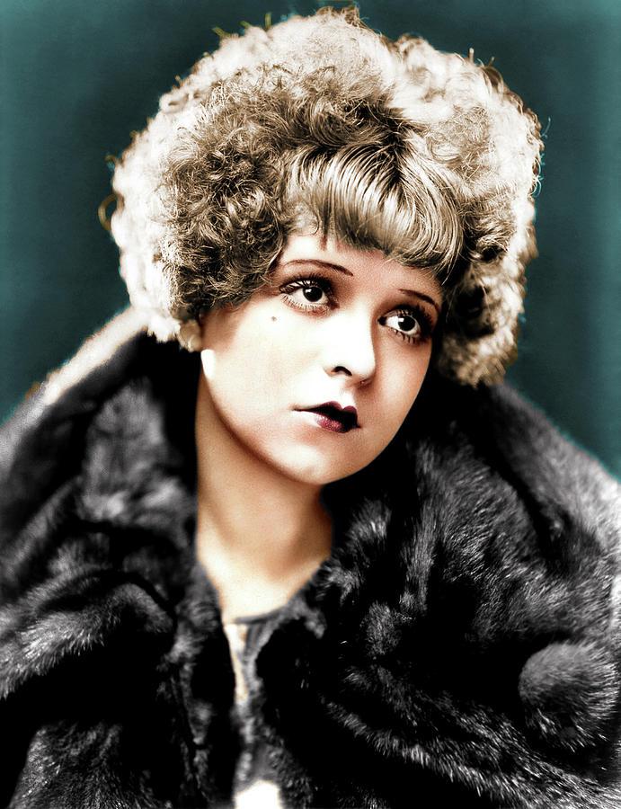 Clara Bow Colorized Photograph