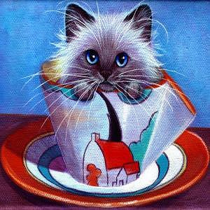 Whimsy Painting - Clarice Cliff Tea Time Himi by L Risor