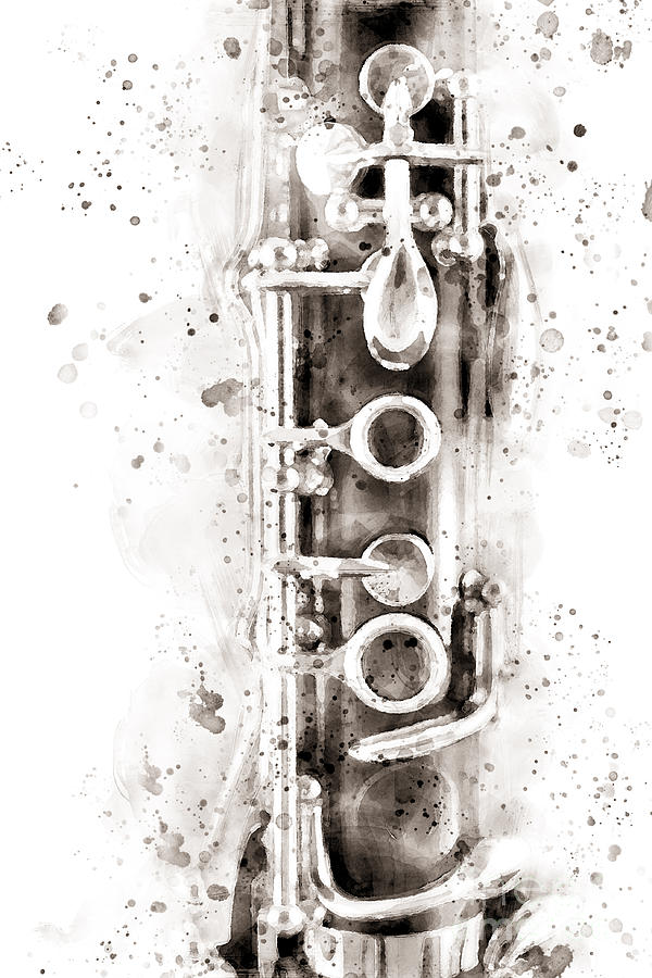 Clarinet part on black by Gregory DUBUS