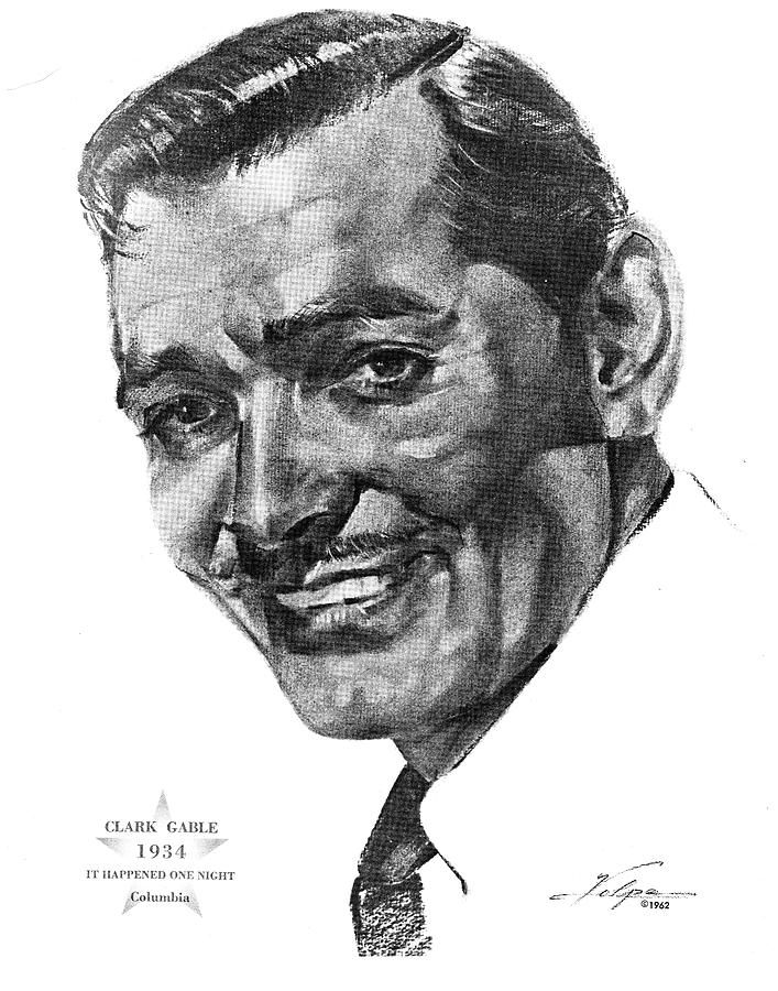 Clark Gable By Volpe Drawing