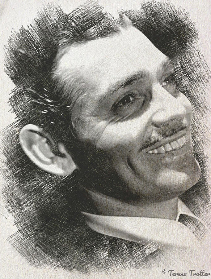 Clark Gable Sketch Drawing