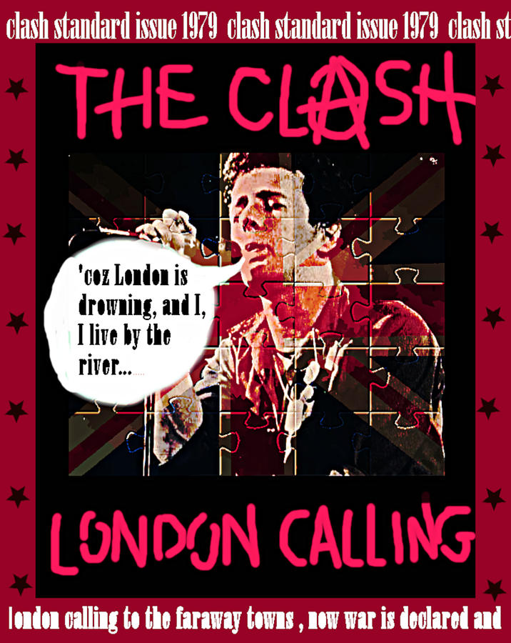 Clash London Calling 1979 by Enki Art