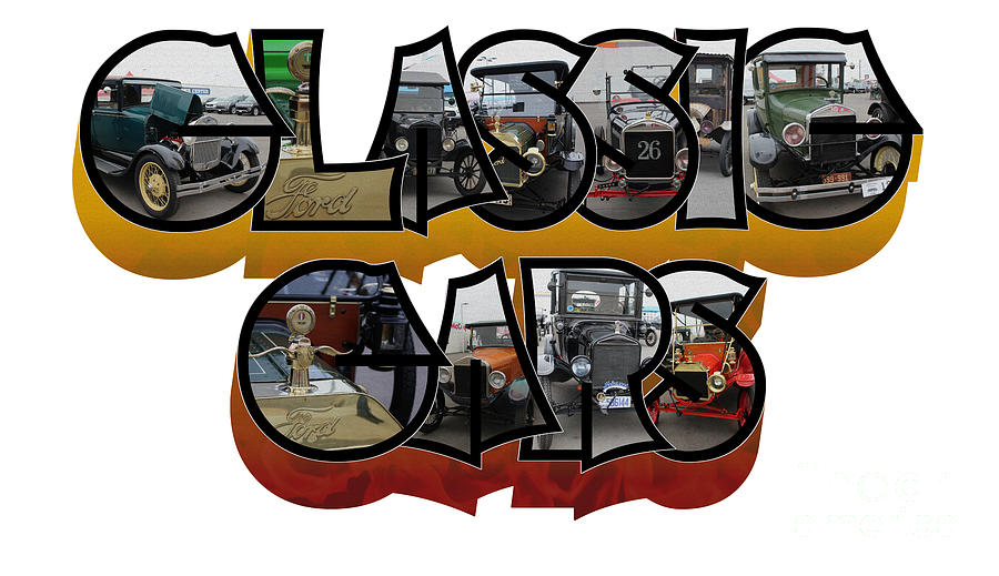 Classic Car Big Letter by Colleen Cornelius