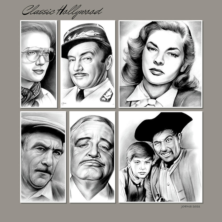 Classic Drawing - Classic Hollywood by Greg Joens