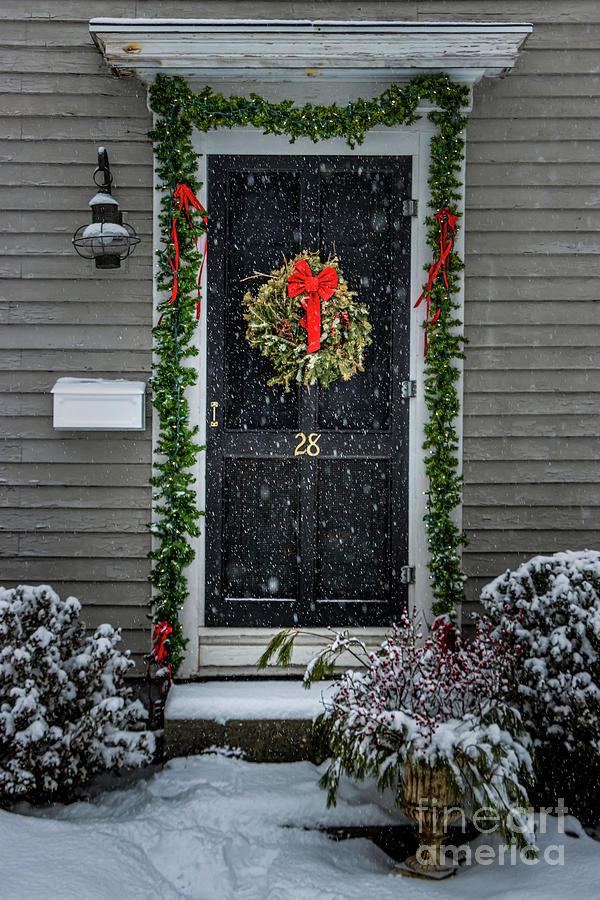 Classic Maine Christmas Entrance Photograph