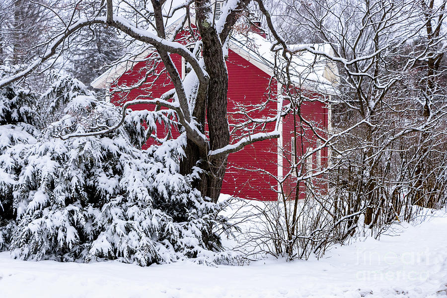 Classic Maine Red Barn Photograph
