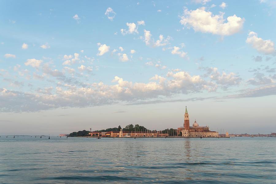 San Giorgio Maggiore Photograph - Classic Venetian - Fluffy Morning At San Giorgio Maggiore Basilica by Georgia Mizuleva