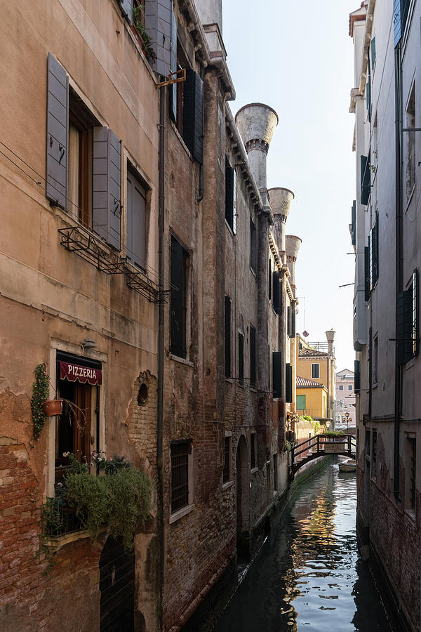 Classic Venetian - Poste Vecie Bridge Pizzeria and Distinctive Chimneys by Georgia Mizuleva