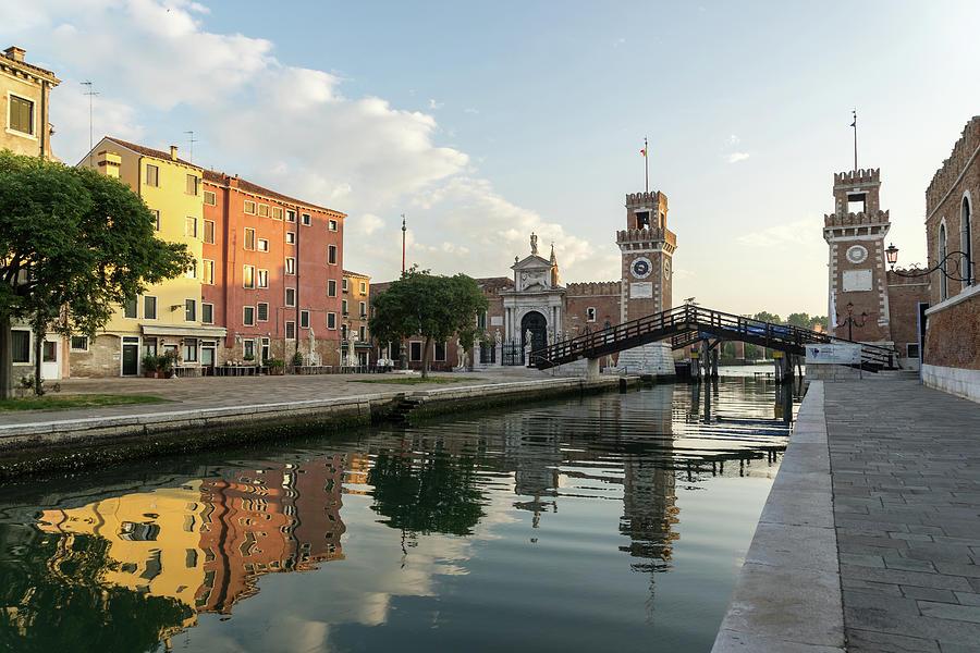 Classic Venice Italy - Venetian Arsenal Arsenale di Venezia Silky Morning by Georgia Mizuleva