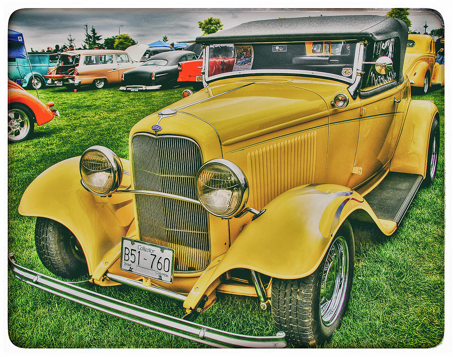 Classic Yellow Ford Photograph