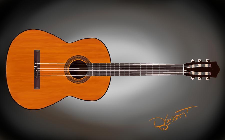 Classical Guitar Digital Art