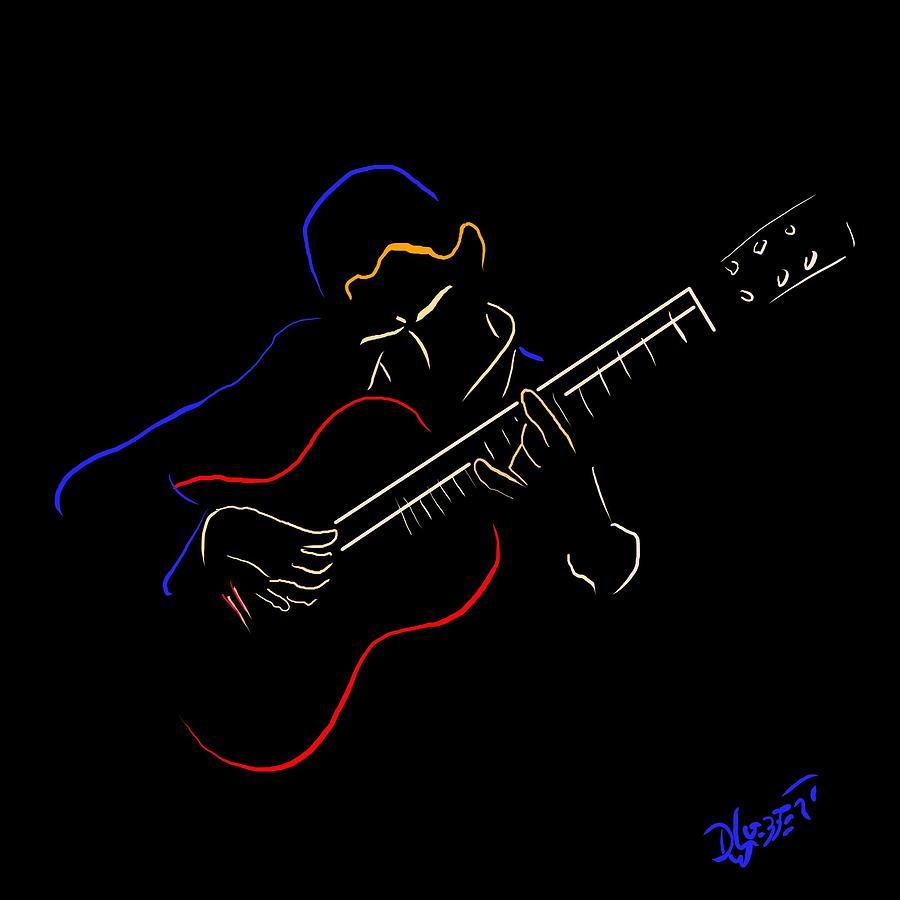 Classical Guitarist 1 Digital Art
