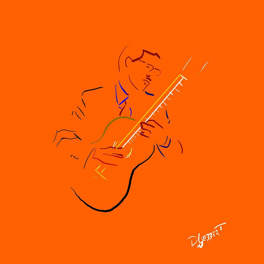 Classical Guitarist 2 Digital Art