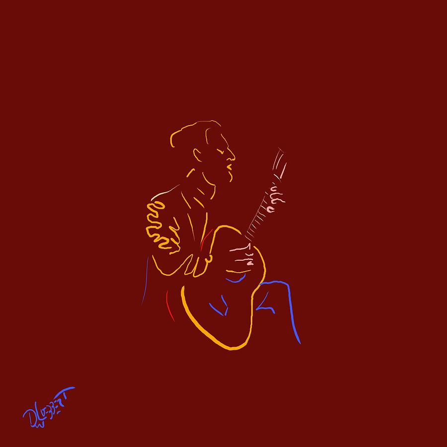 Classical Guitarist 3 Digital Art