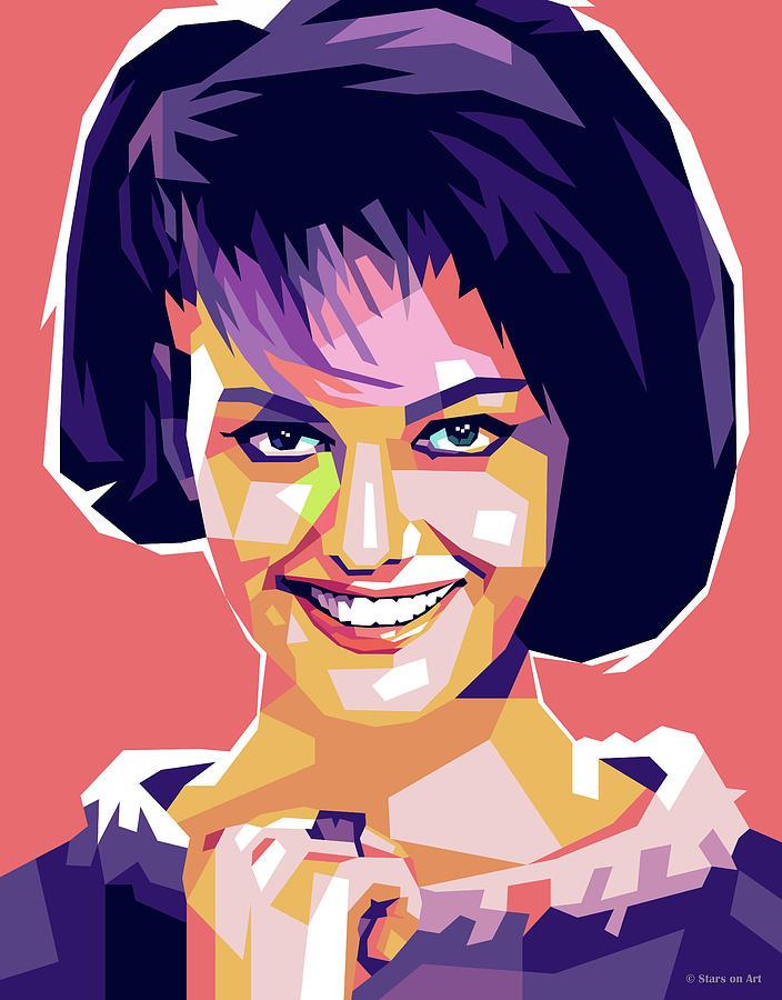 Claudia Cardinale 2 Digital Art