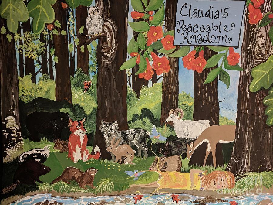 Animals Mixed Media - Claudias Peaceable Kingdom by Jennifer Ambs