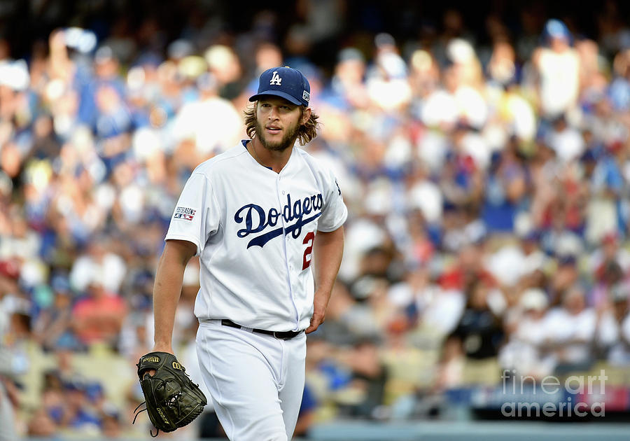 Clayton Kershaw and Jhonny Peralta Photograph by Kevork Djansezian