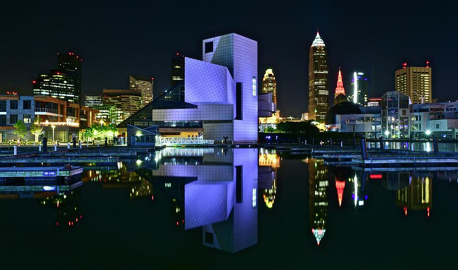 Cle Photograph - CLE Lakefront Rock and Roll by Frozen in Time Fine Art Photography