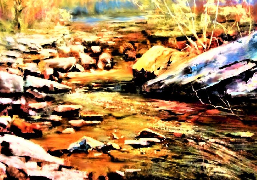 Stream Painting - Clear Creek Shift by Joseph Barani